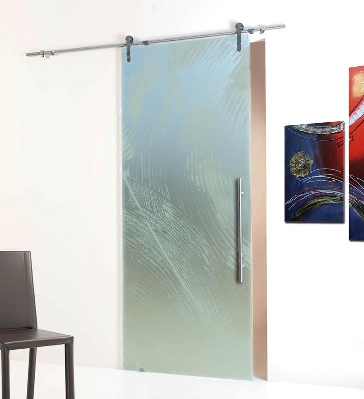 Porte scorrevoli vetro satinato idee per il design della for Porte scorrevoli in vetro prezzi