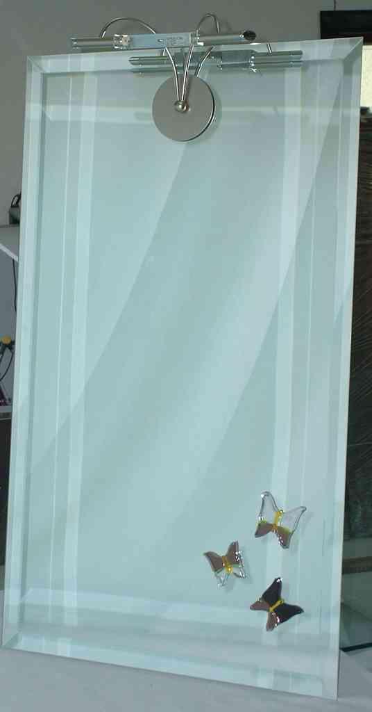 specchio con decoro vetrofusione