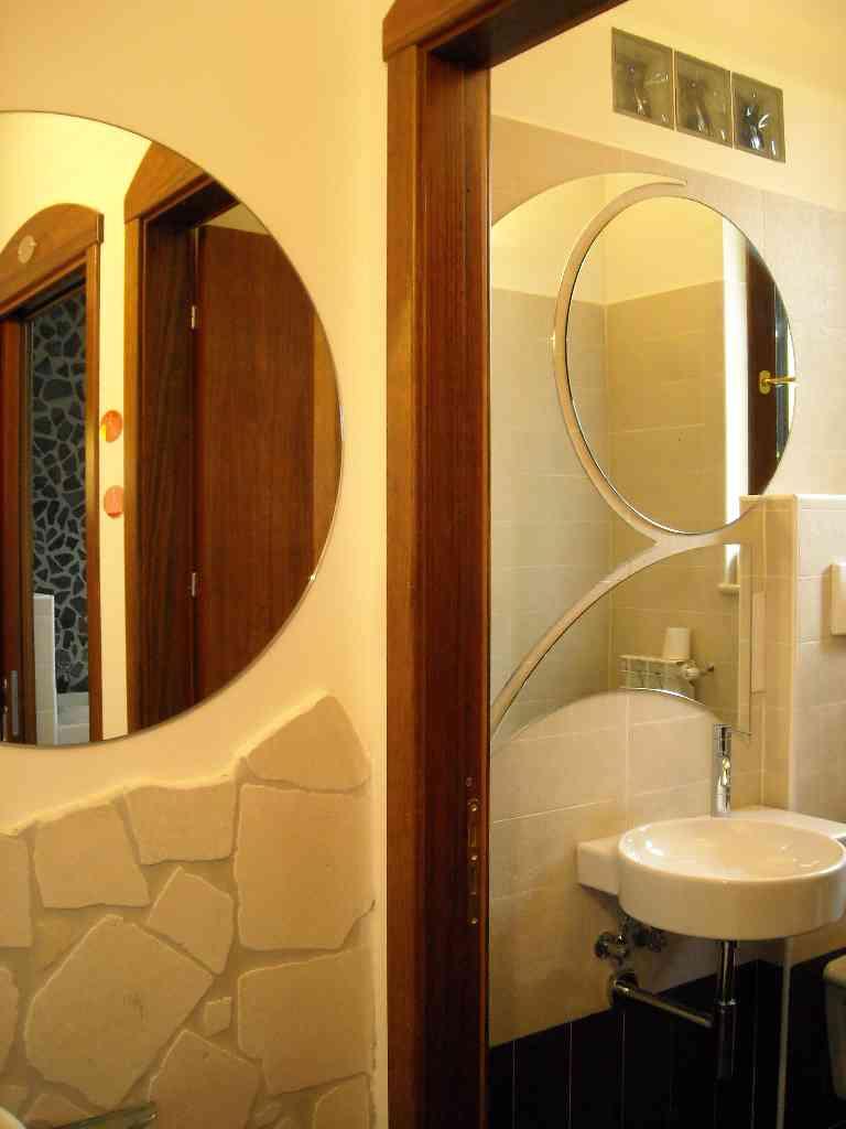 Vetro vetro temperato vetro stratificato vetro decorato stampa digitale su vetro vetro - Specchio ovale bagno ...