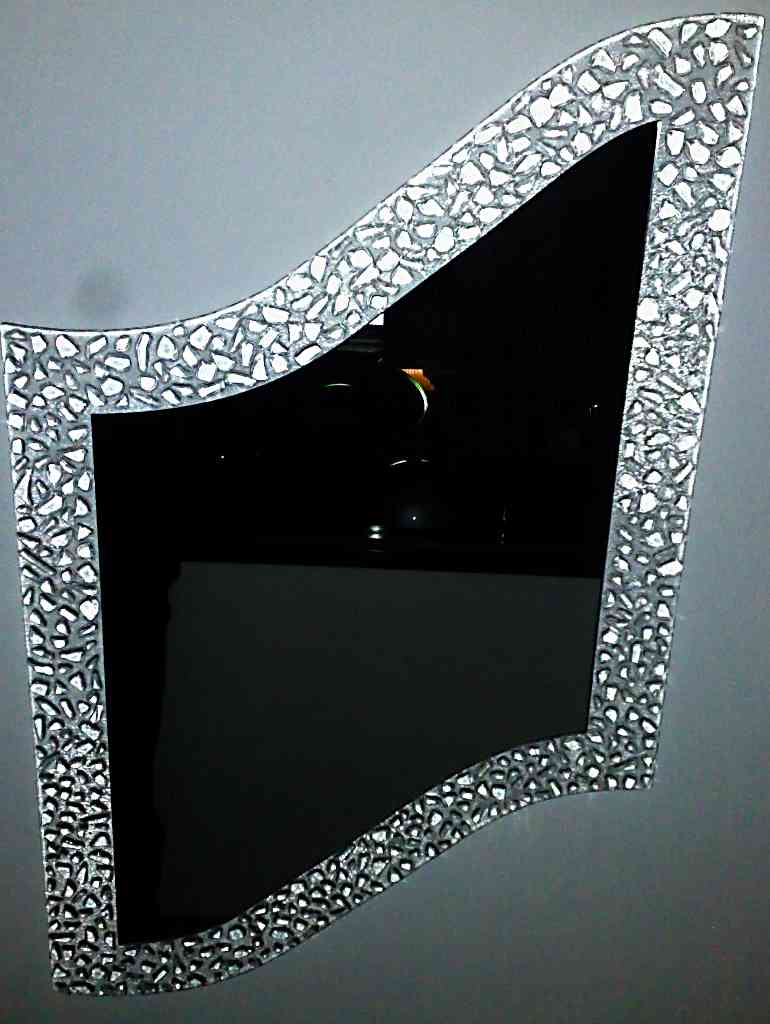 Vetro vetro temperato vetro stratificato vetro decorato for Cornice specchio