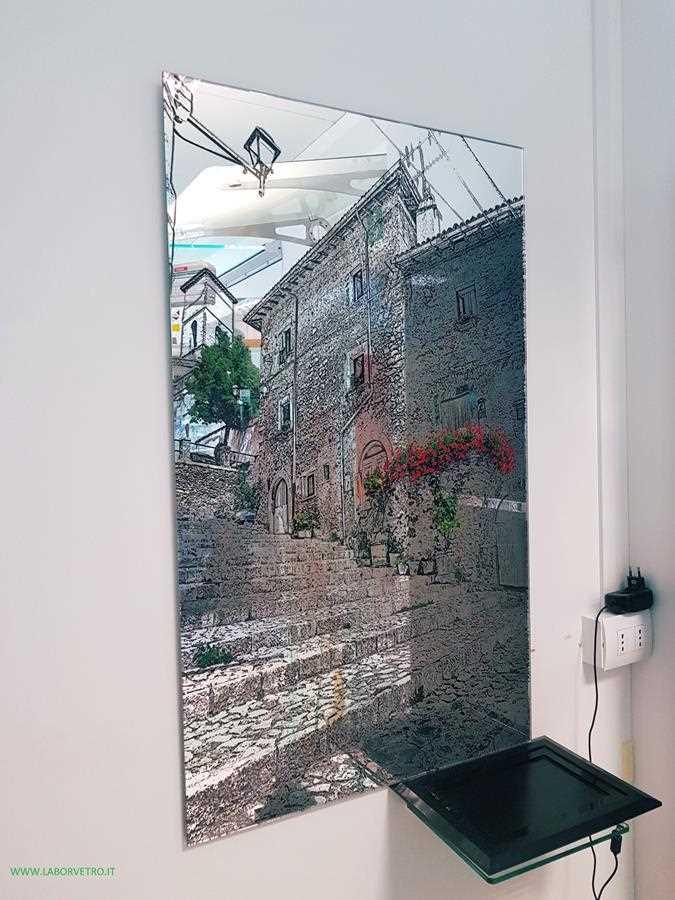 Vetro vetro temperato vetro stratificato vetro decorato stampa digitale su vetro vetro - La stampa specchio ...